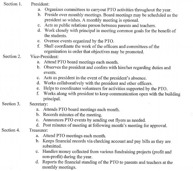 pto officer responsibility