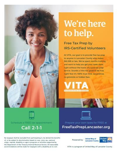 VITA tax preparation flyer
